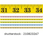 vector clothmeasure   measuring ... | Shutterstock .eps vector #210823267