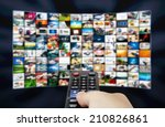 big lcd panel with television... | Shutterstock . vector #210826861