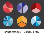 a colorful business pie chart... | Shutterstock .eps vector #210831787
