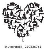 a heart shape made from... | Shutterstock .eps vector #210836761