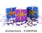 festive packages - stock photo