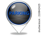 parking pointer icon on white... | Shutterstock . vector #210842425