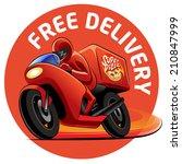 pizza delivery. vector... | Shutterstock .eps vector #210847999
