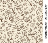 school theme icons pattern | Shutterstock .eps vector #210850129