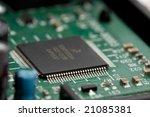 microchip on circuitboard... | Shutterstock . vector #21085381