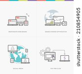 flat web development concepts... | Shutterstock .eps vector #210854905