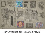 middle ages theme illustration | Shutterstock . vector #210857821