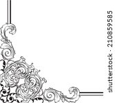 ornate corner is on white | Shutterstock . vector #210859585