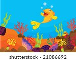 tropical fish on a coral reef... | Shutterstock . vector #21086692