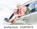 family car   father driving... | Shutterstock . vector #210878575