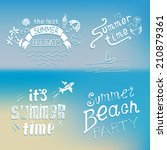 Summer Background With Labels   ...