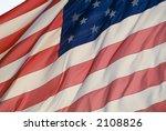 backlit huge american flag... | Shutterstock . vector #2108826
