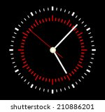 face clock vector background | Shutterstock .eps vector #210886201