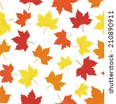 Seamless Maple Leaves Pattern