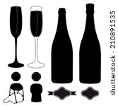 complete set of champagne.... | Shutterstock .eps vector #210891535