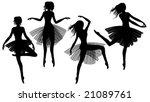 set of woman dancing modern