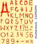 original red font on a yellow... | Shutterstock . vector #21090394