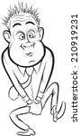 whiteboard drawing   cartoon... | Shutterstock . vector #210919231
