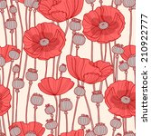 Seamless Pattern With Poppies.