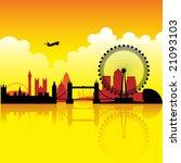 London Skyline Silhouette At...