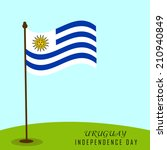illustration of uruguay flag... | Shutterstock .eps vector #210940849