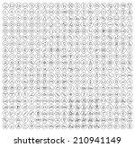 400 universal thin line black... | Shutterstock .eps vector #210941149