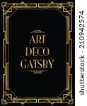 gatsby art deco background | Shutterstock .eps vector #210942574