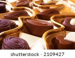 delicious chocolates on gold... | Shutterstock . vector #2109427