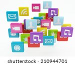 mobile phone app icon. software ... | Shutterstock . vector #210944701