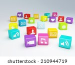 mobile phone app icon. software ... | Shutterstock . vector #210944719