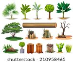 Illustration Of The Trees And...