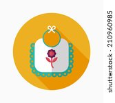 baby bib flat icon with long... | Shutterstock .eps vector #210960985