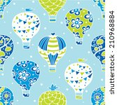 vector seamless pattern with... | Shutterstock .eps vector #210968884