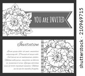 set of invitations with floral... | Shutterstock .eps vector #210969715