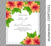 wedding invitation cards with... | Shutterstock .eps vector #210971011