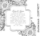 wedding invitation cards with... | Shutterstock . vector #210974077