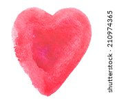 watercolor heart isolated on... | Shutterstock . vector #210974365
