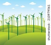 windmill or green energy source ... | Shutterstock .eps vector #210979561