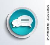 vector modern blue bubble...   Shutterstock .eps vector #210982501
