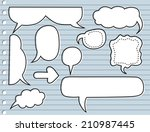 sketchy bubble speech | Shutterstock .eps vector #210987445