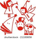 vector set of christmas 23 | Shutterstock .eps vector #21100858