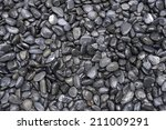 Black Round River Rocks