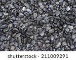 Black Round River Rocks