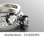 golden engagement ring with... | Shutterstock . vector #211020391