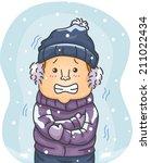 illustration of a man in winter ... | Shutterstock .eps vector #211022434