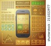 flat mobile ui user interface...   Shutterstock .eps vector #211022977