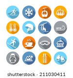 collection of winter icons... | Shutterstock .eps vector #211030411