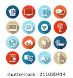 set of icons representing media ... | Shutterstock .eps vector #211030414