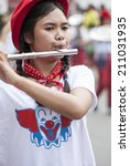 marching band in the... | Shutterstock . vector #211031935