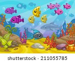 underwater world  cartoon...